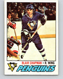 1977-78 O-Pee-Chee #174 Blair Chapman  RC Rookie Pittsburgh Penguins  V14153