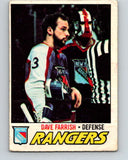 1977-78 O-Pee-Chee #179 Dave Farrish  RC Rookie New York Rangers  V14192