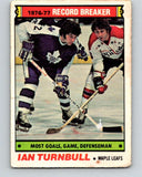 1977-78 O-Pee-Chee #215 Ian Turnbull RB  Toronto Maple Leafs  V14458