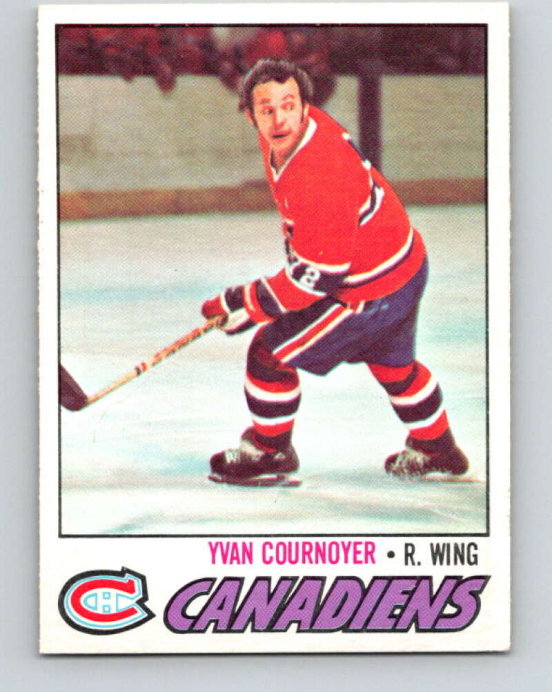 1977-78 O-Pee-Chee #230 Yvan Cournoyer  Montreal Canadiens  V14569