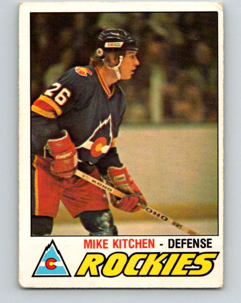 1977-78 O-Pee-Chee #267 Mike Kitchen  RC Rookie Colorado Rockies  V14839
