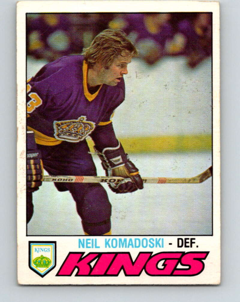 1977-78 O-Pee-Chee #344 Neil Komadoski  Los Angeles Kings  V15427