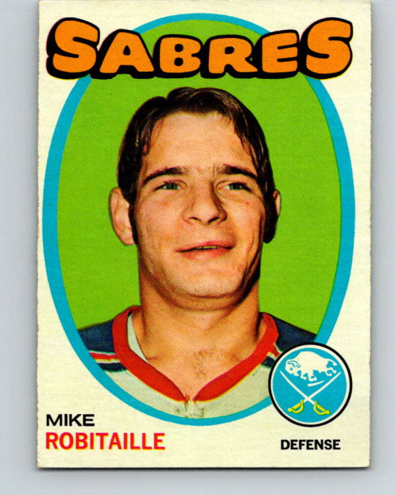 1971-72 Topps #8 Mike Robitaille  RC Rookie Buffalo Sabres  V16484