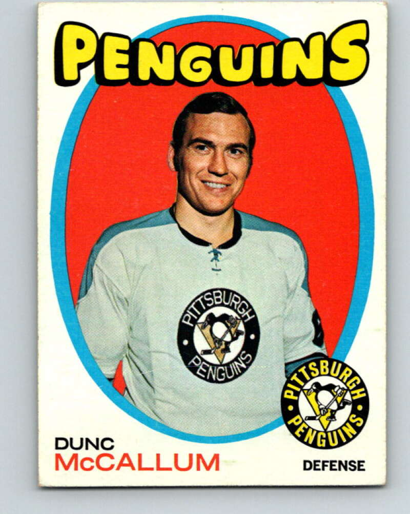 1971-72 Topps #132 Dunc McCallum  RC Rookie Pittsburgh  V16550