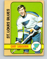 1972-73 Topps #163 Gary Sabourin  St. Louis Blues  V16605