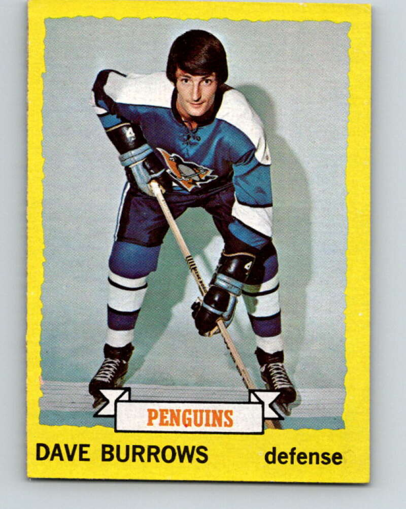 1973-74 Topps #27 Dave Burrows  Pittsburgh Penguins  V16626