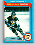 1979-80 O-Pee-Chee #9 Greg Malone  Pittsburgh Penguins  V16805
