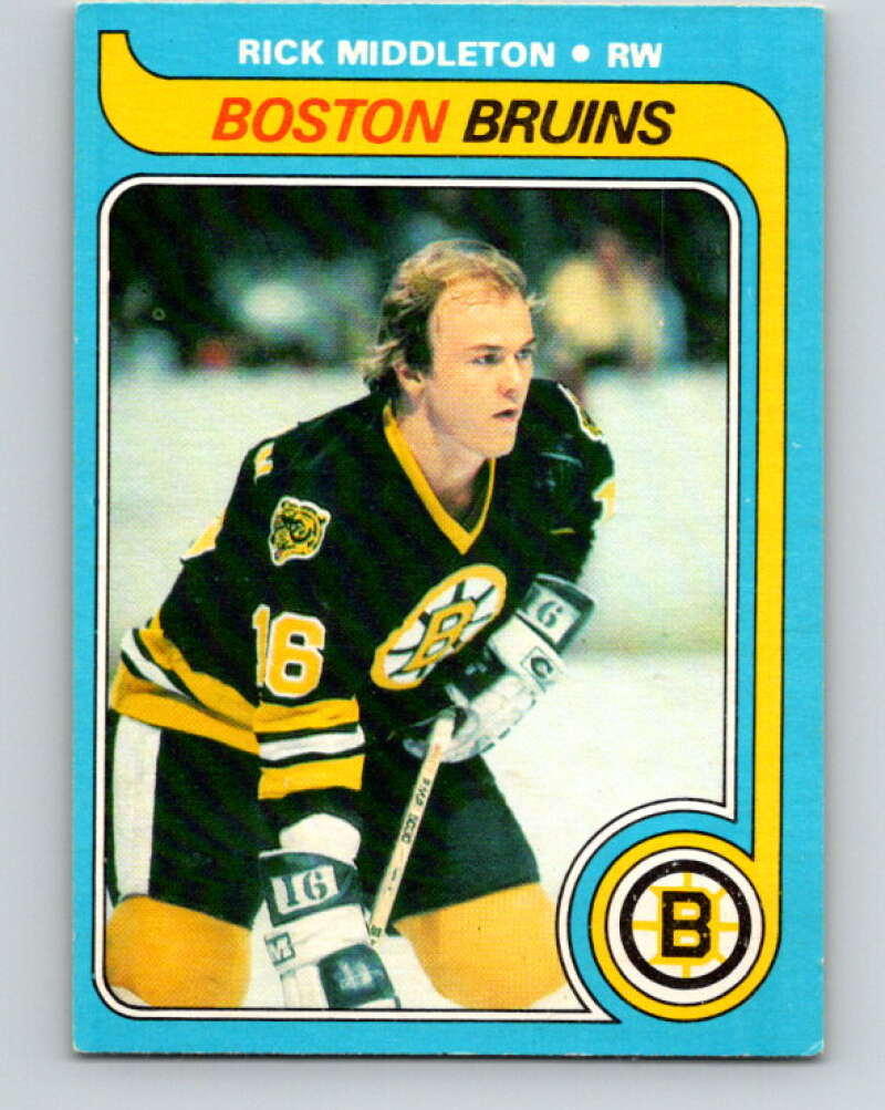 1979-80 O-Pee-Chee #10 Rick Middleton  Boston Bruins  V16808