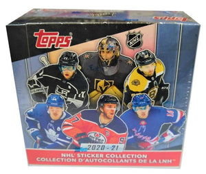 2020-21 Topps NHL Hockey Sticker Hobby Box - 50 Packs Per Box