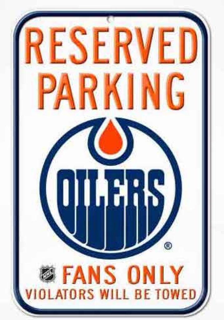 "Edmonton Oilers Wincraft 11""x17"" Reserved Parking Fans Only Sign"