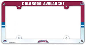 "Colorado Avalanche Plastic License Plate Frame - Standard 6""x12"""