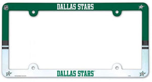 "Dallas Stars Plastic License Plate Frame - Standard 6""x12"""