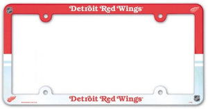 "Detroit Red Wings Plastic License Plate Frame - Standard 6""x12"""