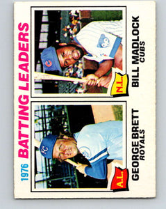 1977 O-Pee-Chee #1 Brett/Madlock Batting Leaders LL   V28808