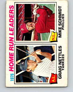 1977 O-Pee-Chee #2 Nettles/Schmidt Home Run Leaders LL   V28809