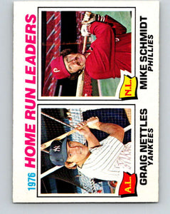 1977 O-Pee-Chee #2 Nettles/Schmidt Home Run Leaders LL   V28810