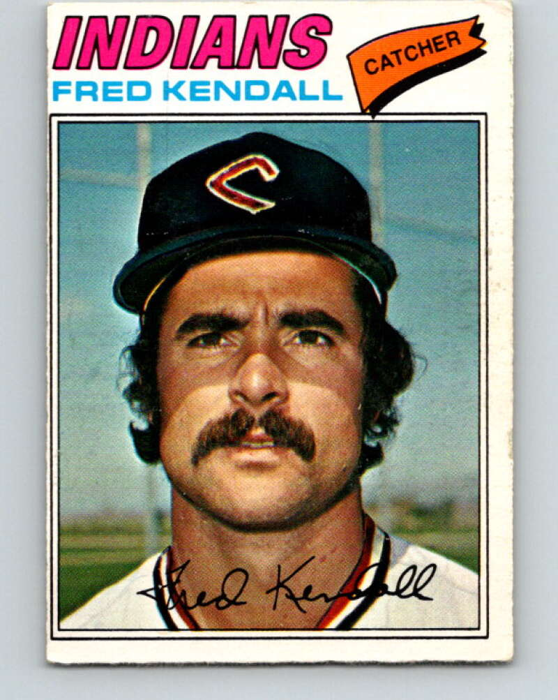1977 O-Pee-Chee #213 Fred Kendall  Cleveland Indians  V29252