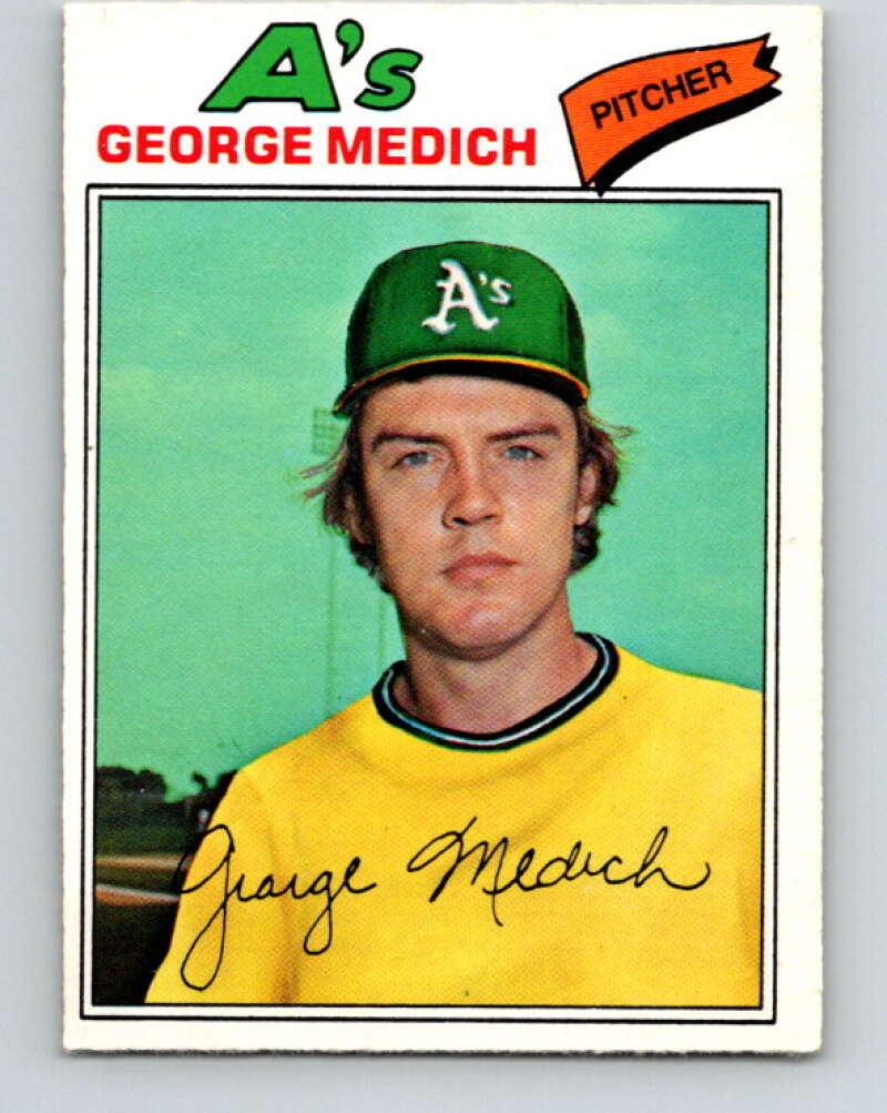 1977 O-Pee-Chee #222 Doc Medich  Oakland Athletics  V29272