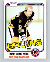 1981-82 O-Pee-Chee #2 Rick Middleton  Boston Bruins  V29376