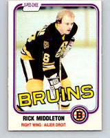 1981-82 O-Pee-Chee #2 Rick Middleton  Boston Bruins  V29377