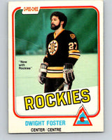 1981-82 O-Pee-Chee #3 Dwight Foster  Colorado Rockies  V29383