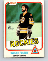 1981-82 O-Pee-Chee #3 Dwight Foster  Colorado Rockies  V29385