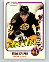 1981-82 O-Pee-Chee #4 Steve Kasper  RC Rookie Boston Bruins  V29388