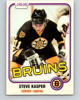 1981-82 O-Pee-Chee #4 Steve Kasper  RC Rookie Boston Bruins  V29391