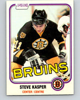 1981-82 O-Pee-Chee #4 Steve Kasper  RC Rookie Boston Bruins  V29392
