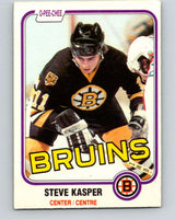 1981-82 O-Pee-Chee #4 Steve Kasper  RC Rookie Boston Bruins  V29393