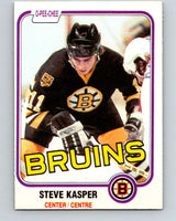 1981-82 O-Pee-Chee #4 Steve Kasper  RC Rookie Boston Bruins  V29394