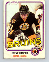 1981-82 O-Pee-Chee #4 Steve Kasper  RC Rookie Boston Bruins  V29395