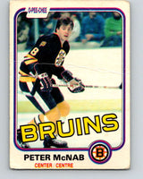 1981-82 O-Pee-Chee #5 Peter McNab  Boston Bruins  V29398