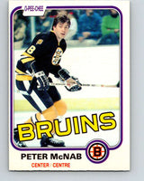 1981-82 O-Pee-Chee #5 Peter McNab  Boston Bruins  V29401