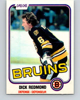 1981-82 O-Pee-Chee #9 Dick Redmond  Boston Bruins  V29426