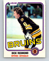 1981-82 O-Pee-Chee #9 Dick Redmond  Boston Bruins  V29428
