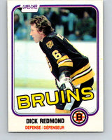 1981-82 O-Pee-Chee #9 Dick Redmond  Boston Bruins  V29429
