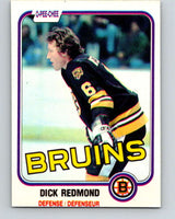1981-82 O-Pee-Chee #9 Dick Redmond  Boston Bruins  V29430
