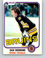 1981-82 O-Pee-Chee #9 Dick Redmond  Boston Bruins  V29432