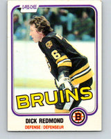 1981-82 O-Pee-Chee #9 Dick Redmond  Boston Bruins  V29433