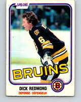 1981-82 O-Pee-Chee #9 Dick Redmond  Boston Bruins  V29434
