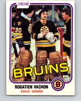 1981-82 O-Pee-Chee #10 Rogie Vachon  Boston Bruins  V29436