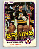1981-82 O-Pee-Chee #10 Rogie Vachon  Boston Bruins  V29439