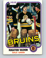 1981-82 O-Pee-Chee #10 Rogie Vachon  Boston Bruins  V29441