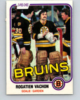 1981-82 O-Pee-Chee #10 Rogie Vachon  Boston Bruins  V29442