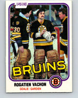 1981-82 O-Pee-Chee #10 Rogie Vachon  Boston Bruins  V29443