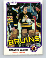 1981-82 O-Pee-Chee #10 Rogie Vachon  Boston Bruins  V29444