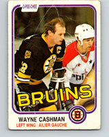 1981-82 O-Pee-Chee #11 Wayne Cashman  Boston Bruins  V29445