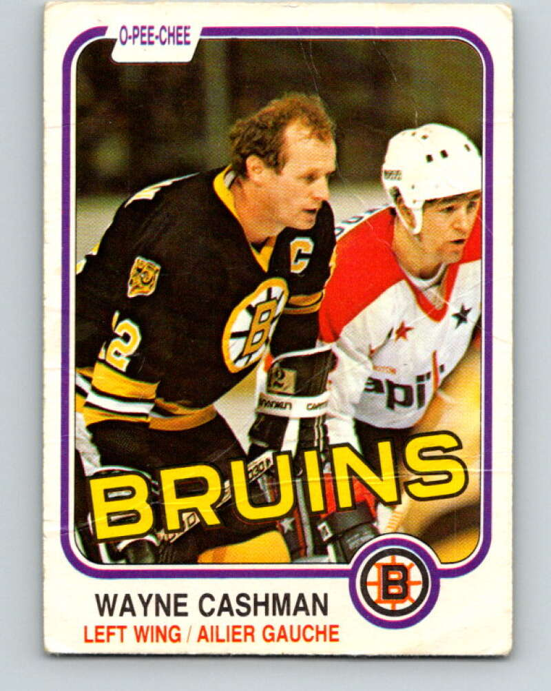 1981-82 O-Pee-Chee #11 Wayne Cashman  Boston Bruins  V29446