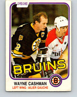 1981-82 O-Pee-Chee #11 Wayne Cashman  Boston Bruins  V29447